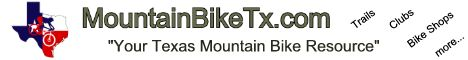 MountainBikeTx.com horizontal banner - White