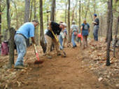 New trail construction at Tyler State Park